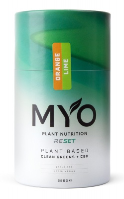 MYO Plant Nutrition RESET Clean Greens + CBD Orange Lime 250g